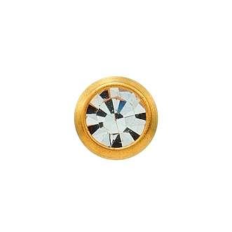 Серьги Studex 7511-0204 Хрусталь завальцованный с золотым покрытием