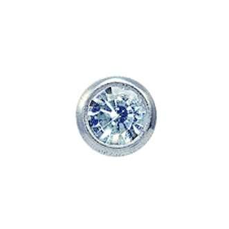 Серьги Studex 7512-0204 Сталь, вставка - прозрачное стекло 3 мм