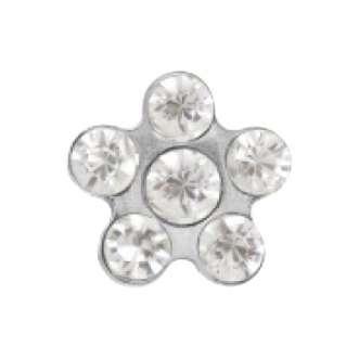 Серьги Studex 7512-6004 Сталь, цветок прозрачное стекло