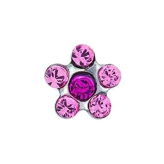 Серьги Studex 7512-6023 Сталь, цветок розово-красный
