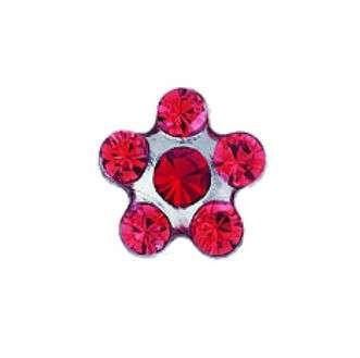 Серьги Studex 7512-6227 Сталь, цветок красный