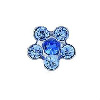 Серьги Studex 7512-6399 Сталь, цветок сине-голубой