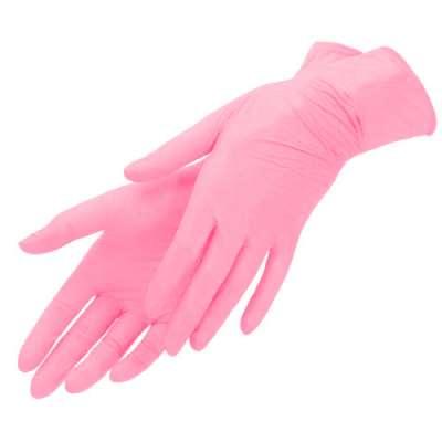 mediOk, Нитриловые перчатки розовый фламинго, размер S, 100 шт.