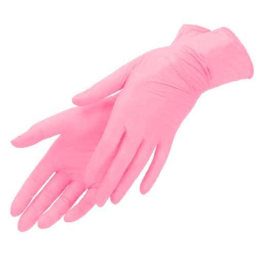Mediok Перчатки нитриловые, розовый фламинго, размер S, 100 шт.
