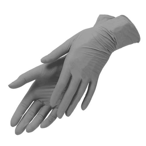 Mediok Перчатки нитриловые, серые, размер S, 100 шт.