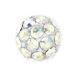 Серьги Studex 7522-0315  Сталь, шар в стиле диско 4,5 мм, вставка- радужное стекло