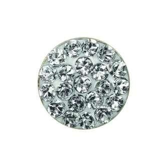 Серьги Studex 7523-3704 Плоский прозрачный диск, позолота