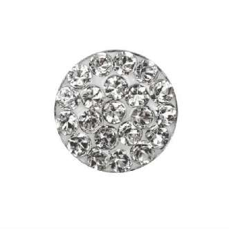 Серьги Studex 7524-3704 Плоский прозрачный диск в серебре