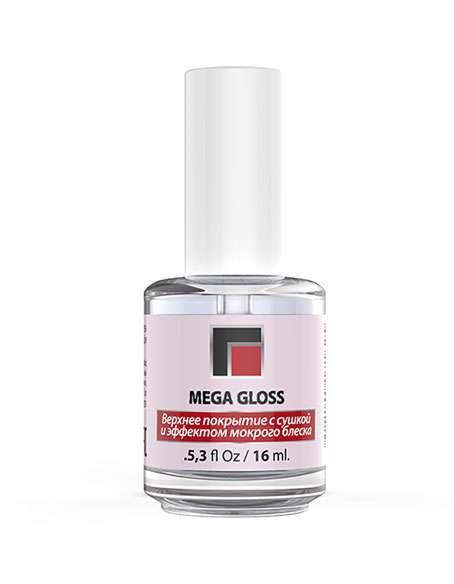 MILV Mega Gloss Верхнее покрытие с сушкой и эффектом мокрого блеска, 16 мл.