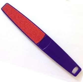 NP Foot Paddle Mylar, Пилка для педикюра, красная, 80/120 грит.