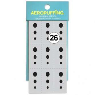 Aeropuffing многоразовый трафарет №26 (Овал)