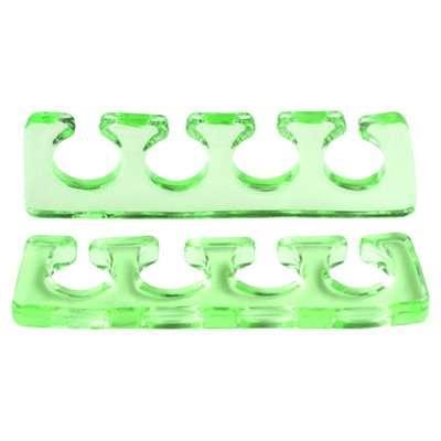 Irisk, Расширитель для пальцев силиконовый, 2 шт. прозрачно-зеленый.