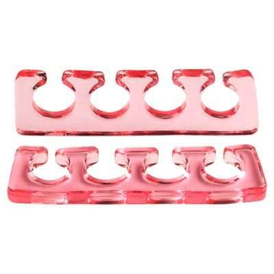 Irisk, Расширитель для пальцев силиконовый, 2 шт. прозрачно-красный.