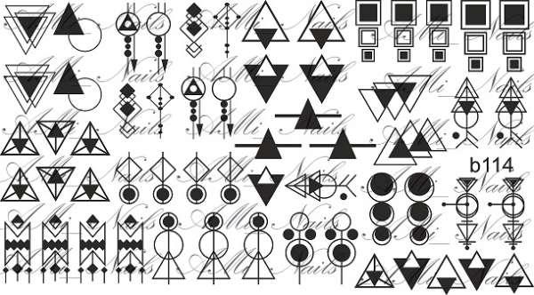 """Ami_nails Cлайдер-дизайн """"Геометрия"""" b114"""