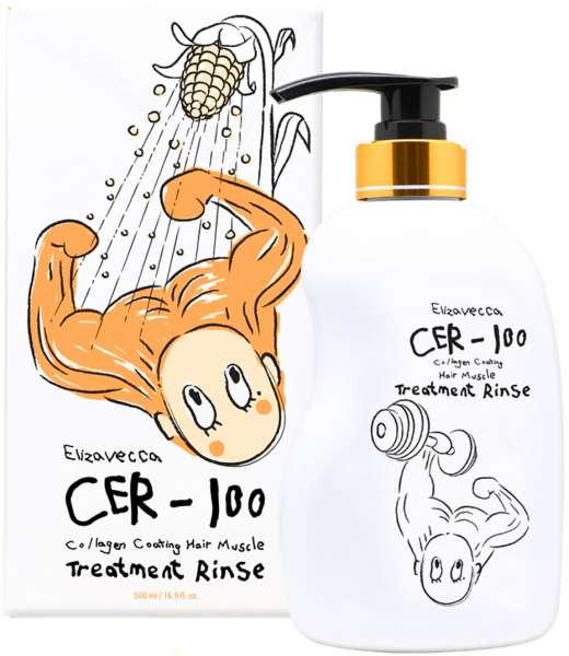 Elizavecca CER-100 Collagen  Маска-бальзам для волос с коллагеном, 500 мл.