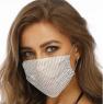 Fashion Mask Маска со стразами многоразовая, Белая