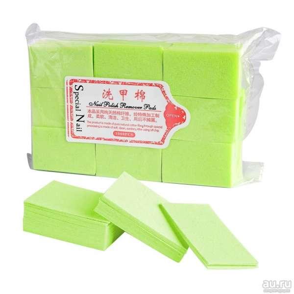 Special Nail - Салфетки безворсовые, супервпитывающие, 1000 шт. зеленые