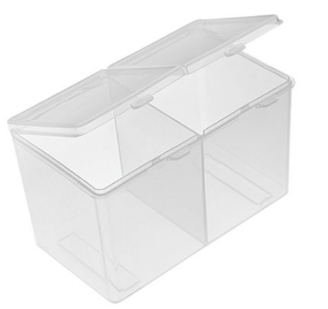 Бокс универсальный пластиковый, прозрачный, 125*70*70 мм