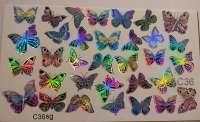 "Ami_nails Слайдер-дизайн ""Бабочки"" № c36sg"