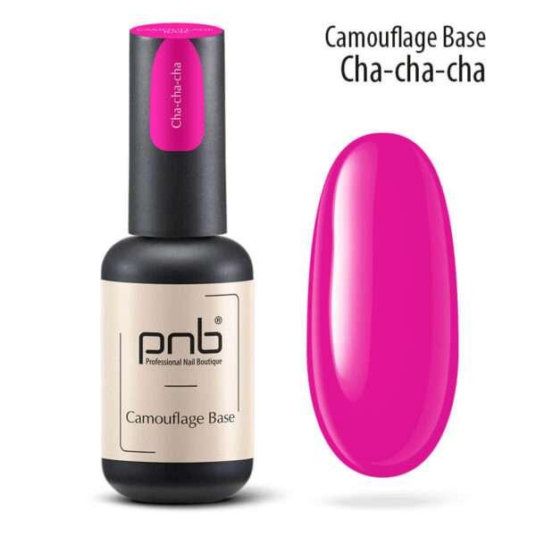 PNB UV/LED Camouflage Base Cha-cha-cha Камуфлирующая база Fuchsia, 8 мл.