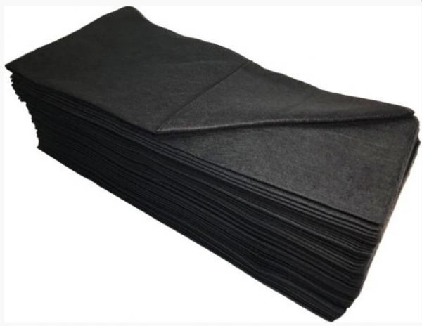 White Line Полотенце 35*70, цвет черный, 50 шт.
