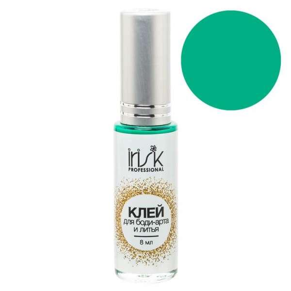 Клей цветной, универсальный для фольги, литья и боди-арта, зеленый 10 мл