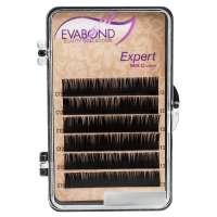 Evabond Expert, Ресницы для наращивания (6 полос), 0.15 C-изгиб, 9 мм.