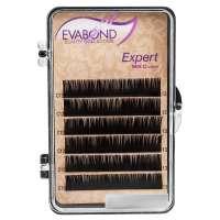 Evabond Expert, Ресницы для наращивания (6 полос), 0.12 C-изгиб, 10 мм.