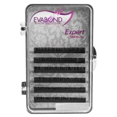 Evabond Expert, Ресницы (6 полос), 0.10 D-изгиб, 12 мм.