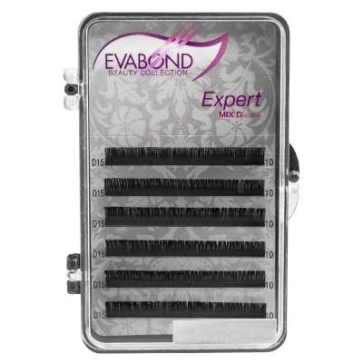 Ресницы на ленте EVABOND Expert, 0,12 D-изгиб, 12мм
