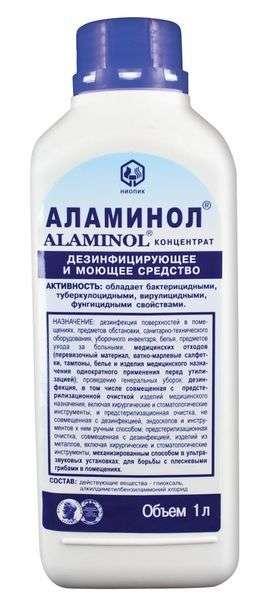 Аламинол Конценрат средство для дезинфекции поверхностей, предстерилизационная обработка инструментов, 1л.