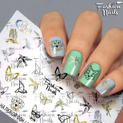 Fashion Nails, слайдер-дизайн, G-49