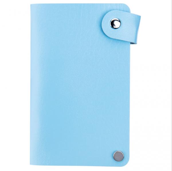 IRISK Кейс-органайзер для стемпинг-трафаретов, 6*12 см., 24 слота, голубой