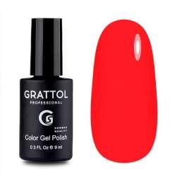 Grattol, Гель-лак № 030 Bright Red, 9 мл.