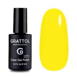 Grattol, Гель-лак № 034 Yellow, 9 мл.