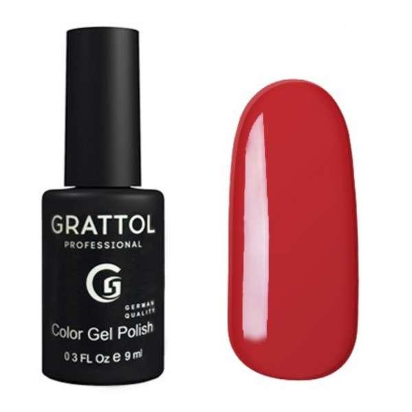 Grattol, Гель-лак № 052 Red, 9 мл.