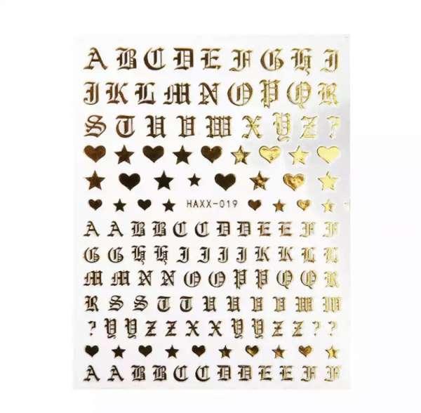 Наклейки металлизированные  для ногтей самоклеющиеся S-621, розовое золото