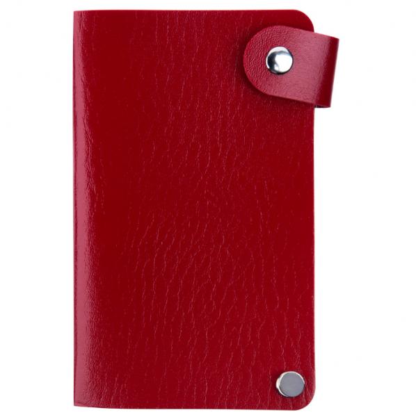 IRISK Кейс-органайзер для стемпинг-трафаретов, 6*12 см., 24 слота, красный