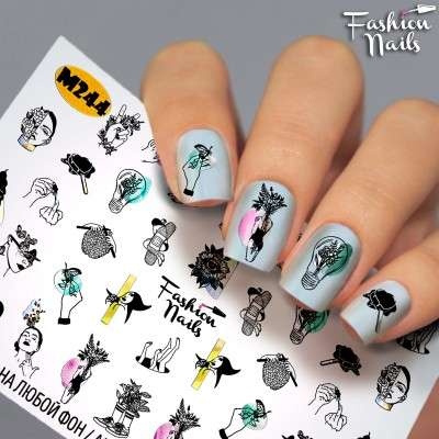 Fashion Nails, слайдер-дизайн, M244