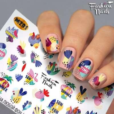 Fashion Nails, слайдер-дизайн, M281