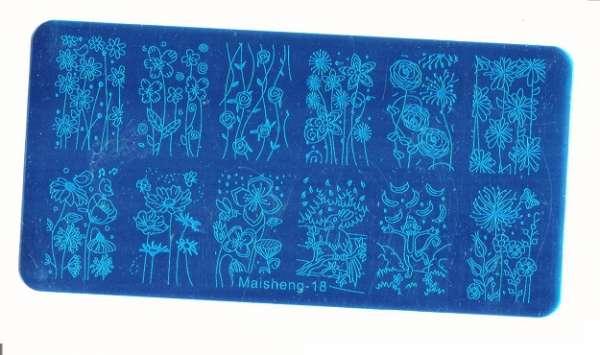 Stamping Пластина MaiSheng-18