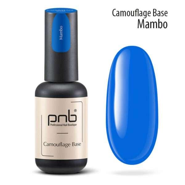 PNB UV/LED Camouflage Base Mambo Камуфлирующая база Blue, 8 мл.
