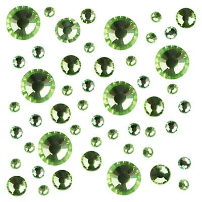 Стразы Crystal Mix размеров Peridot № 10