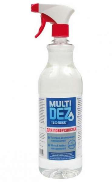 МультиДез-Тефлекс, Средство для дезинфекции и мытья поверхностей (триггер) 1л.
