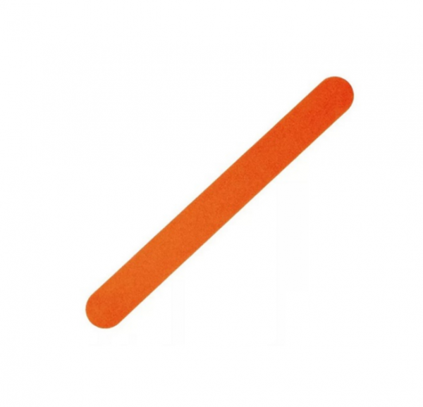 Пилка для натуральных и искусственных ногтей, тонкая, оранжевая, 100*180 гритт