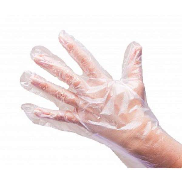 White Line, перчатки полиэтиленовые, размер M, 100 шт.