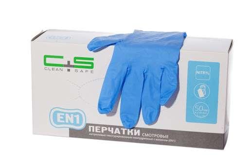 Clean&Safe Нитриловые перчатки размер L, 100 шт/ 50 пар