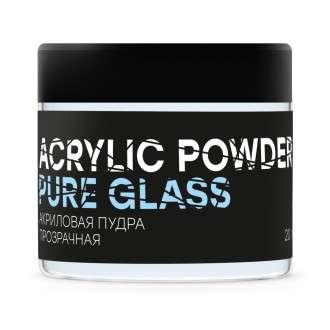 InGarden, Акриловая пудра для наращивания ногтей прозрачная Pure Glass Power, 20 гр.