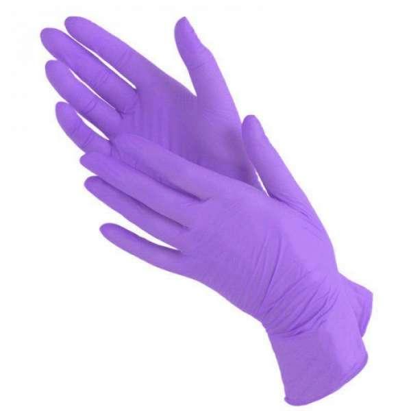 Mediok Перчатки нитриловые, пурпурные, размер S, 100 шт.