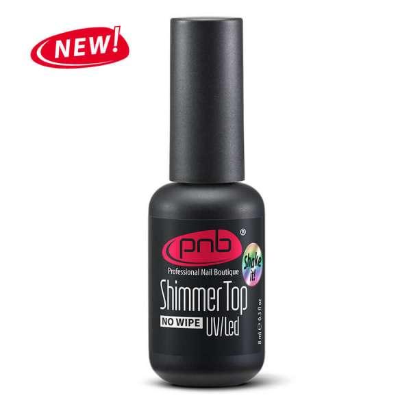 PNB - Shimmer Топ без липкого слоя с радужным микрошиммером, 8 мл.